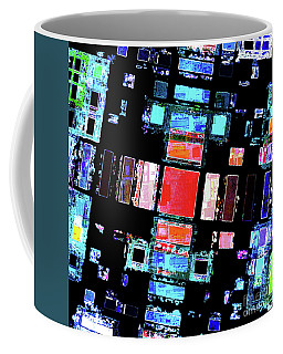 Coffee Mug featuring the digital art Abstract Geometric Art by Phil Perkins