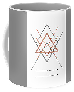 Abstract Geometry In Rose And Silver Coffee Mug