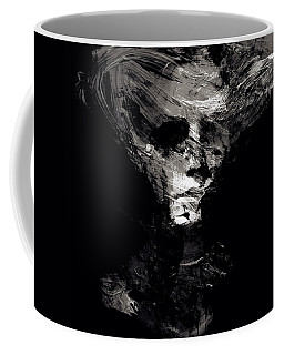 Abstract Ghost Black And White Coffee Mug