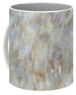 Coffee Mug featuring the mixed media Abstract Gold Cream Beige 6 by Clare Bambers
