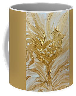 Abstract Golden Rooster Coffee Mug
