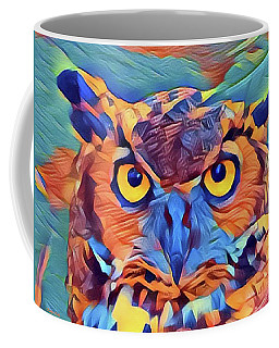 Abstract Great Horned Owl Coffee Mug