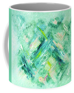 Abstract Green Blue Coffee Mug