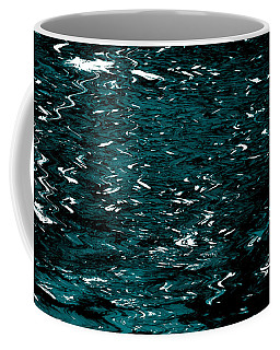 Coffee Mug featuring the photograph Abstract Green Reflections by Gary Smith