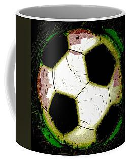 Abstract Grunge Soccer Ball Coffee Mug
