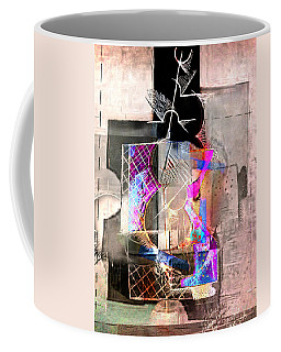 Abstract Guitar In Pink Coffee Mug