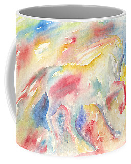 Abstract Horse II Coffee Mug
