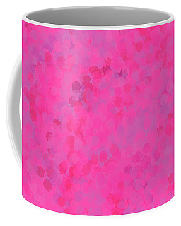 Coffee Mug featuring the mixed media Abstract Hot Pink And Lilac 4 by Clare Bambers