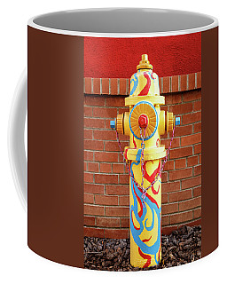 Coffee Mug featuring the photograph Abstract Hydrant by James Eddy