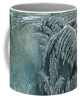 Coffee Mug featuring the digital art Abstract Ice Crystals by Robert G Kernodle