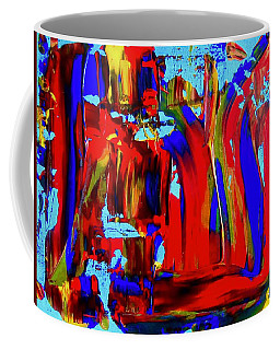 Abstract In Blue And Red Coffee Mug