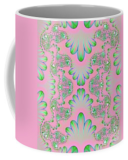 Coffee Mug featuring the digital art Abstract In Pastels by Linda Phelps