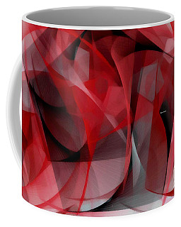 Coffee Mug featuring the digital art Abstract In Red Black And White by Rafael Salazar