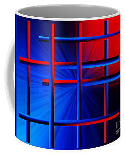 Abstract In Red/blue 3 Coffee Mug by Trena Mara