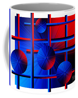 Abstract In Red/blue Coffee Mug