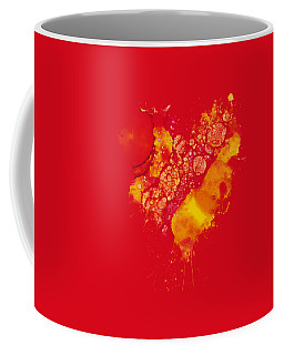 Coffee Mug featuring the painting Abstract Intensity by Nikki Marie Smith