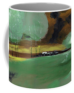 Coffee Mug featuring the painting Abstract Landscape by Anil Nene