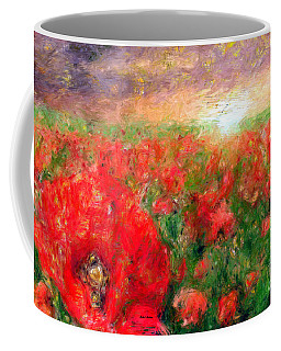 Abstract Landscape Of Red Poppies Coffee Mug