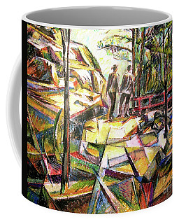 Abstract Landscape With People Coffee Mug