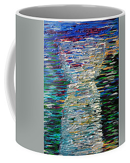Abstract Latte Stone Coffee Mug