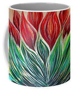 Abstract Lotus Coffee Mug