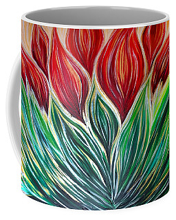 Abstract Lotus Coffee Mug