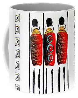 Abstract Masai Warriors Coffee Mug