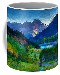 Abstract Mountain Vista  Coffee Mug by Anthony Fishburne