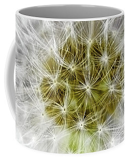 Abstract Nature Dandelion Floral Maro White And Yellow A1 Coffee Mug