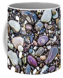 Abstract Nature Tropical Beach Pebbles 871a Blue Purple Pink And Orange 871a Coffee Mug