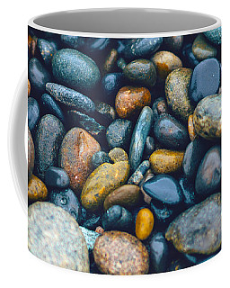 Abstract Nature Tropical Beach Pebbles 923 Blue Coffee Mug