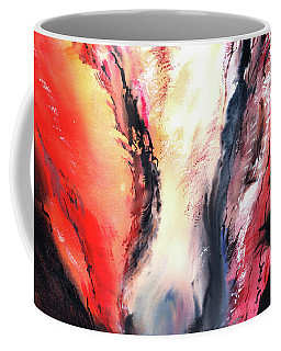 Coffee Mug featuring the painting Abstract New by Anil Nene
