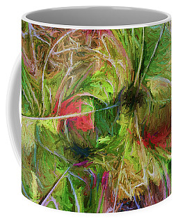 Coffee Mug featuring the digital art Abstract Of Color by Deborah Benoit