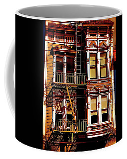 Abstract On Castro Coffee Mug by Ira Shander