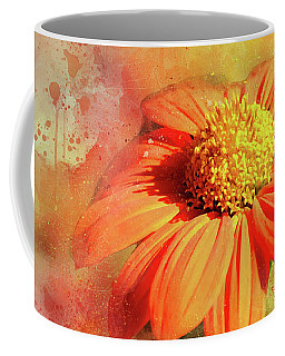 Abstract Orange Flower Coffee Mug
