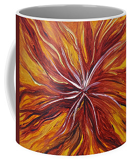 Abstract Orange Flower Coffee Mug
