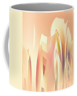Coffee Mug featuring the digital art Abstract Orange Yellow by Robert G Kernodle