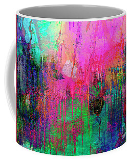 Abstract Painting 621 Pink Green Orange Blue Coffee Mug