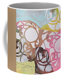 Coffee Mug featuring the painting Abstract Pastel Swirls by Patricia Cleasby