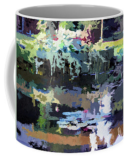 Abstract Patterns On The Lily Pond Coffee Mug