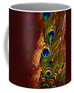 Abstract Peacock Coffee Mug