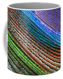 Abstract Peacock Feather Coffee Mug