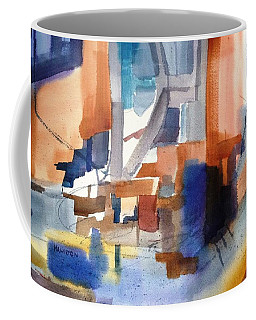 Abstract- Peggy's Cove Coffee Mug by Larry Hamilton
