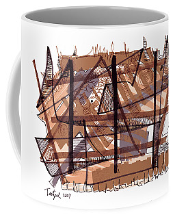 Abstract Pen Drawing Twelve Coffee Mug