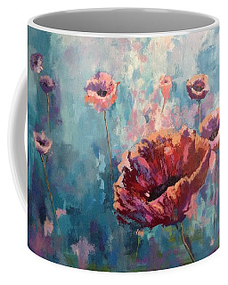 Abstract Poppy Coffee Mug