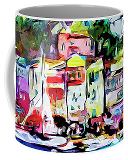 Abstract Portofino Italy Art  Coffee Mug