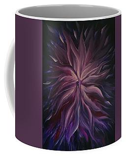 Abstract Purple Flower Coffee Mug