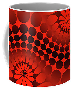 Abstract Red And Black Ornament Coffee Mug