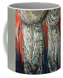 Abstract Red And Silver Latte Stones Coffee Mug