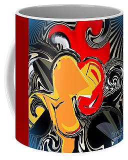 Abstract Red And Yellow Coffee Mug